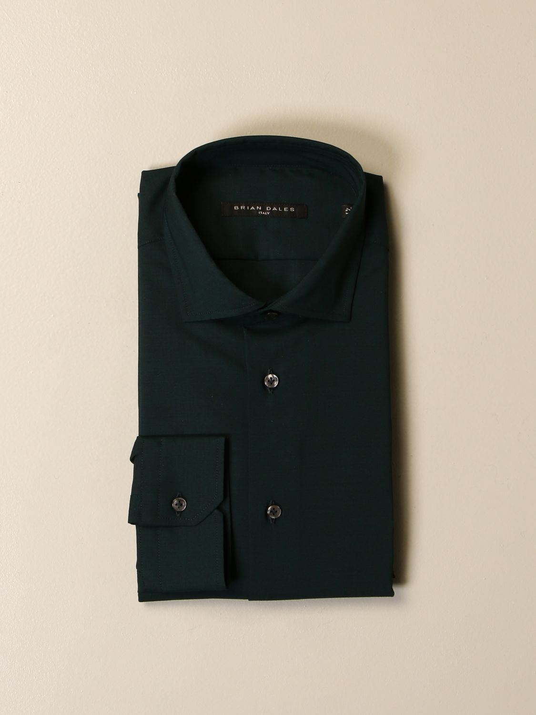 Camicia Brian Dales Camicie: Camicia Brian Dales Camicie in lana stretch verde 1
