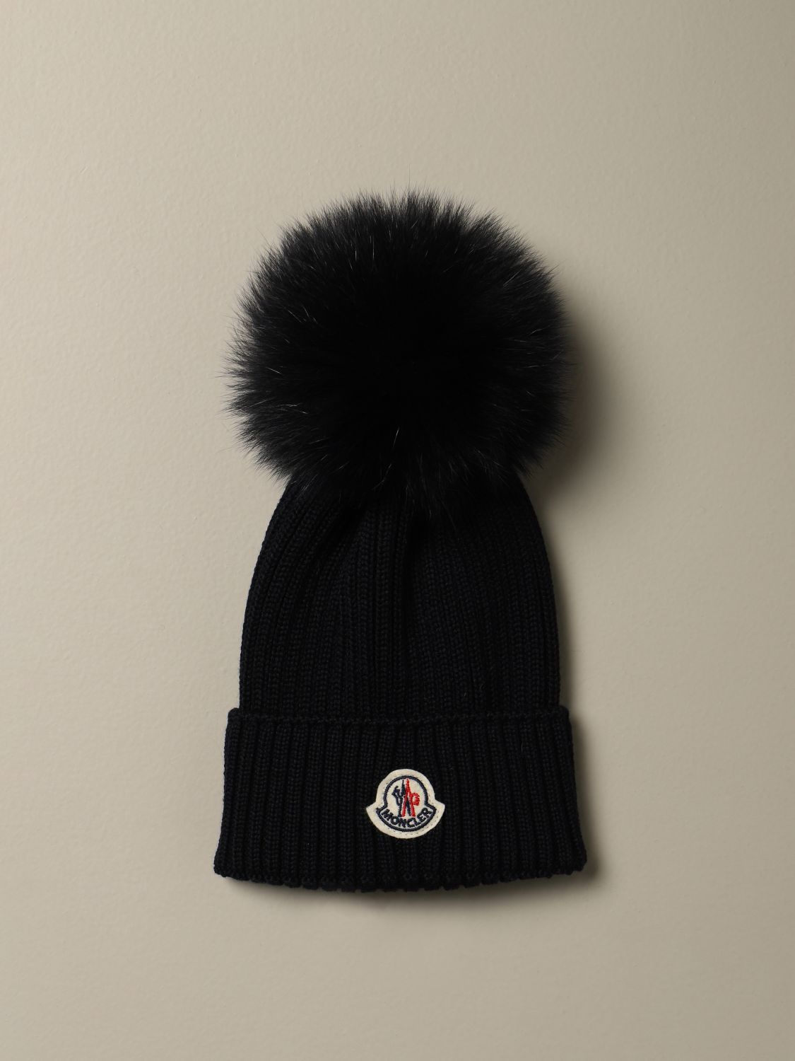 Hat girl Moncler: Hat girl kids Moncler blue 1