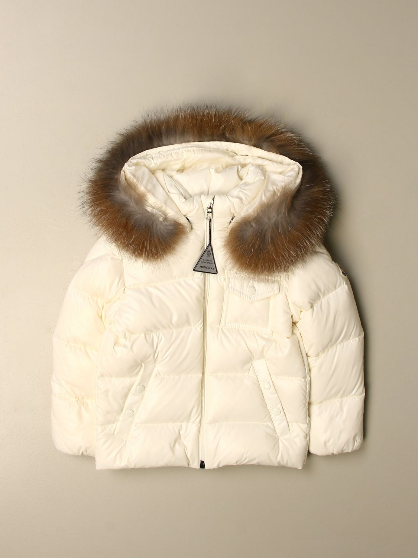 Giacca Moncler: Piumino K2 Moncler con cappuccio amovibile bianco 1
