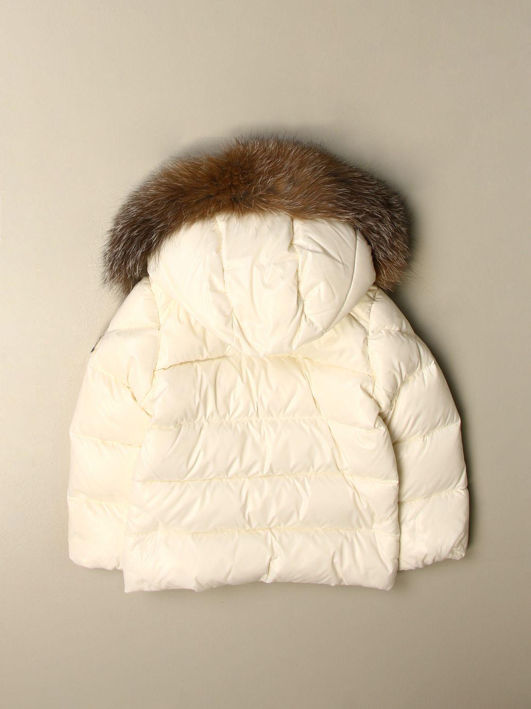 Giacca Moncler: Piumino K2 Moncler con cappuccio amovibile bianco 2