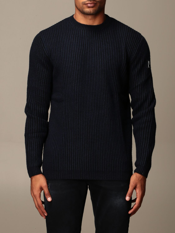 Sweater Henri Lloyd: Henri Lloyd crew neck sweater in ribbed wool navy 1
