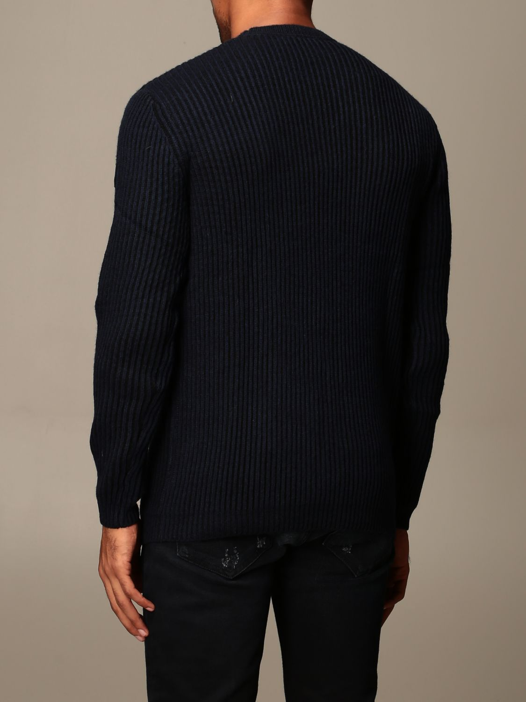 Sweater Henri Lloyd: Henri Lloyd crew neck sweater in ribbed wool navy 2