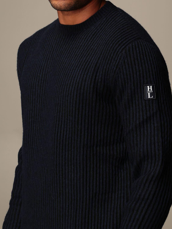 Sweater Henri Lloyd: Henri Lloyd crew neck sweater in ribbed wool navy 3