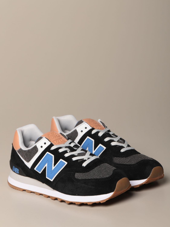 Sneakers 574 New Balance in camoscio e tela