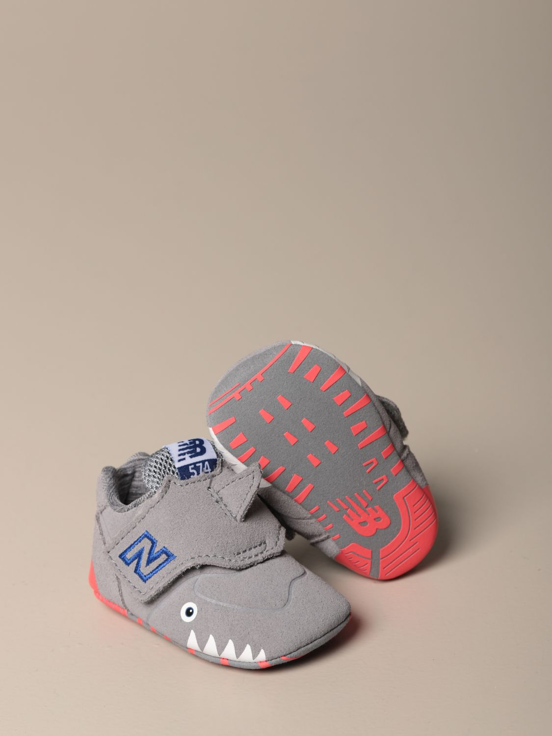 Shoes New Balance: New Balance 574 Classic Crib shoes grey 2