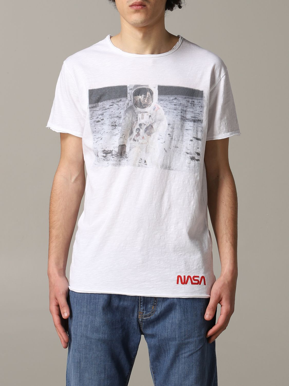 T-shirt 1921: T-shirt 1921 a maniche corte con stampa Nasa bianco 1