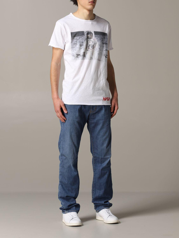 T-shirt 1921: T-shirt 1921 a maniche corte con stampa Nasa bianco 2