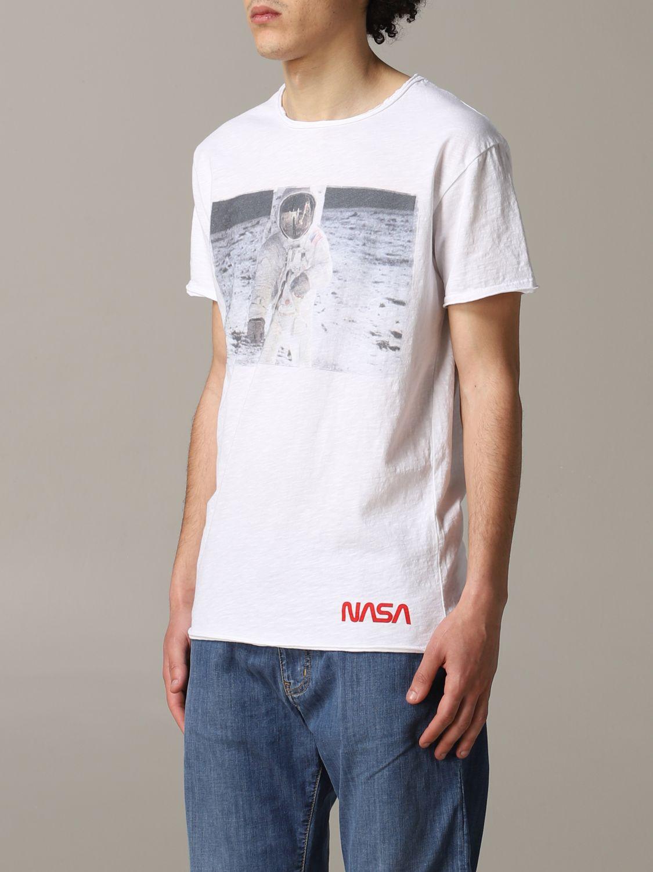 T-shirt 1921: T-shirt 1921 a maniche corte con stampa Nasa bianco 4