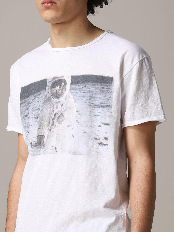 T-shirt 1921: T-shirt 1921 a maniche corte con stampa Nasa bianco 5