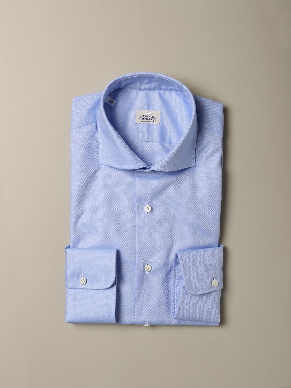 Camicia Alessandro Gherardi: Camicia Oxford Alessandro Gherardi in cotone azzurro 1