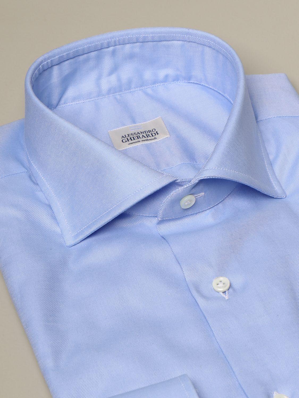 Camicia Alessandro Gherardi: Camicia Oxford Alessandro Gherardi in cotone azzurro 2