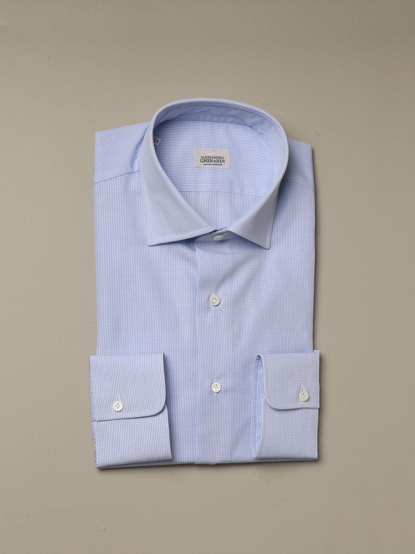 Shirt Alessandro Gherardi: Shirt men Alessandro Gherardi gnawed blue 1