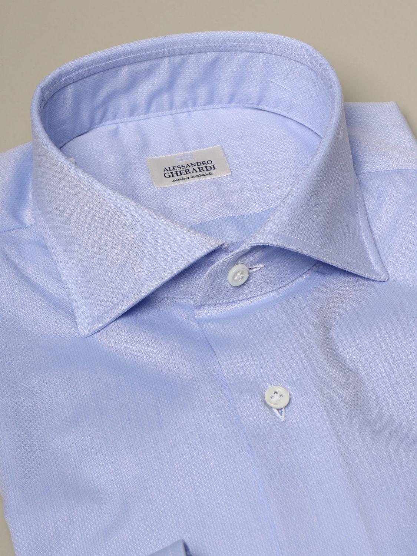 Рубашка Alessandro Gherardi: Рубашка Мужское Alessandro Gherardi небесно-голубой 2