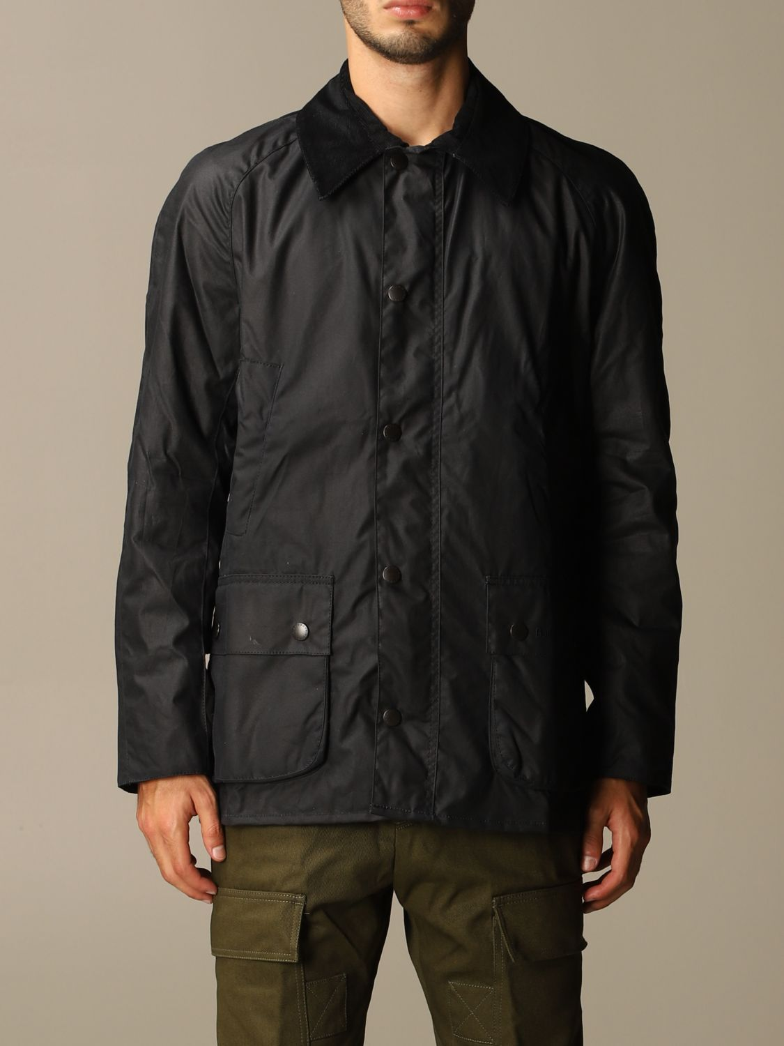 Giacca Barbour: Giacca Ashby Barbour in cotone spalmato blue 1