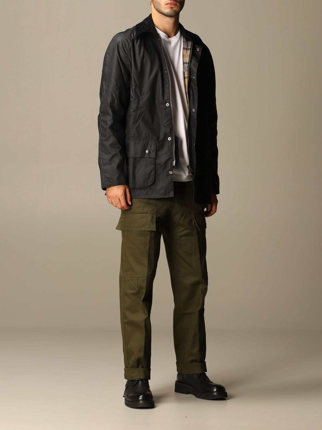 Giacca Barbour: Giacca Ashby Barbour in cotone spalmato blue 2