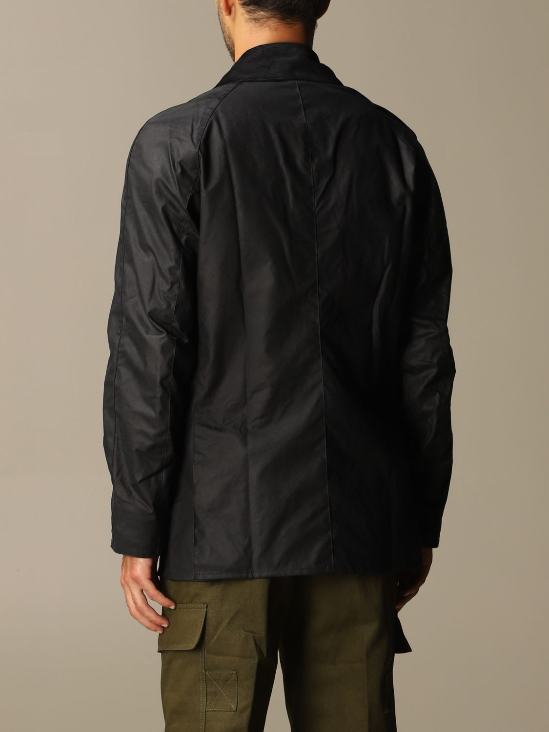 Giacca Barbour: Giacca Ashby Barbour in cotone spalmato blue 3