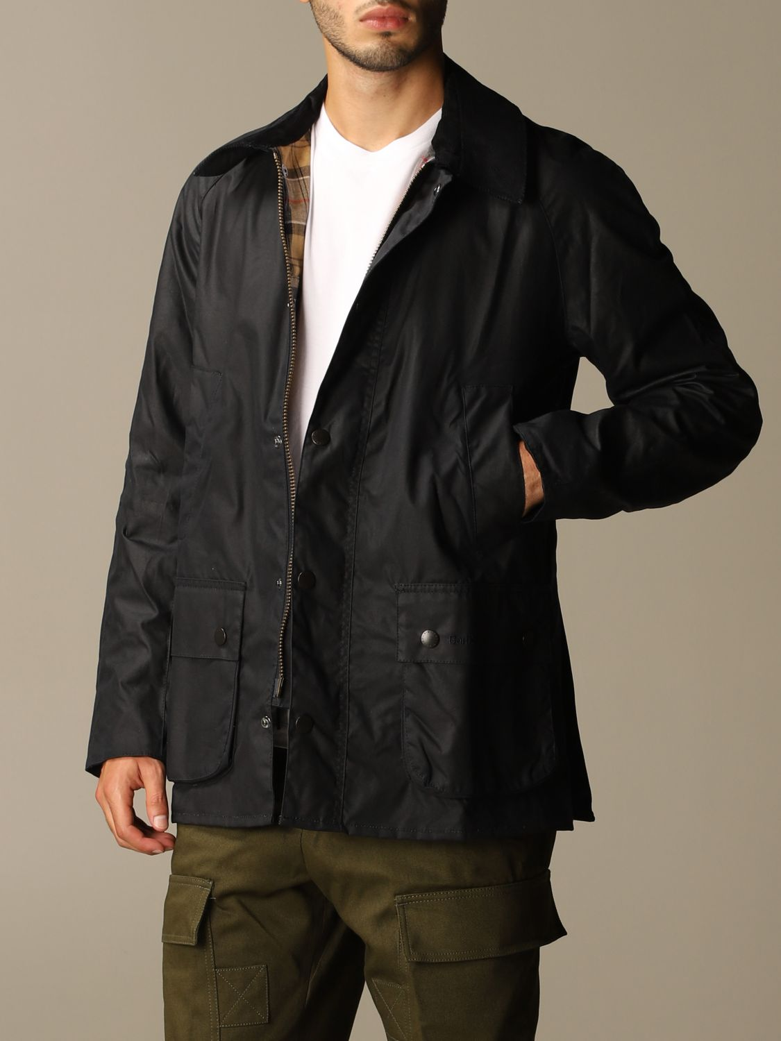 Giacca Barbour: Giacca Ashby Barbour in cotone spalmato blue 4