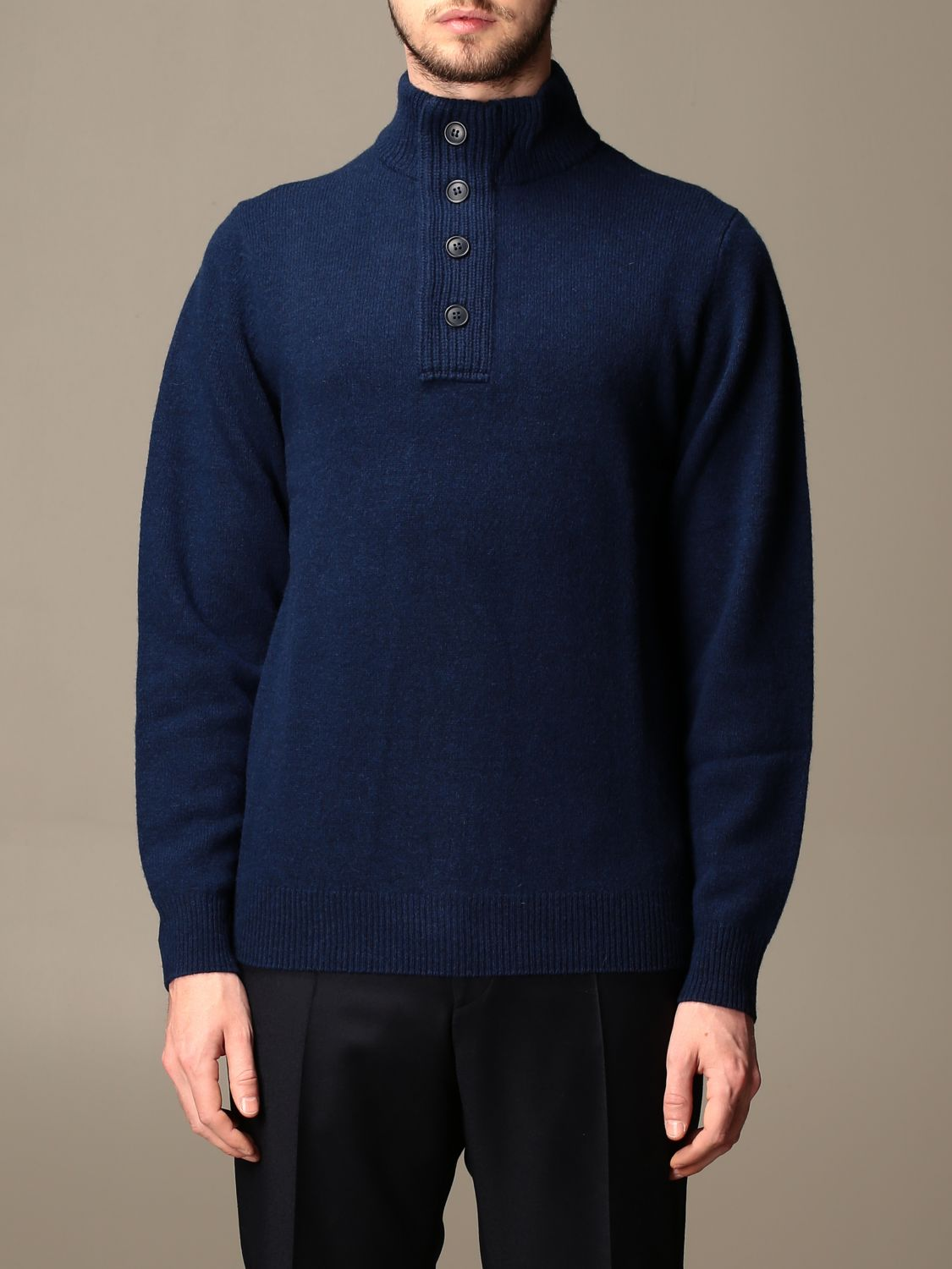 Pull Barbour: Pull homme Barbour bleu 1