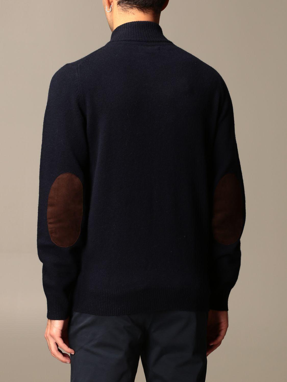 Cardigan Barbour: Cardigan Barbour in lana con bottoni blue navy 2