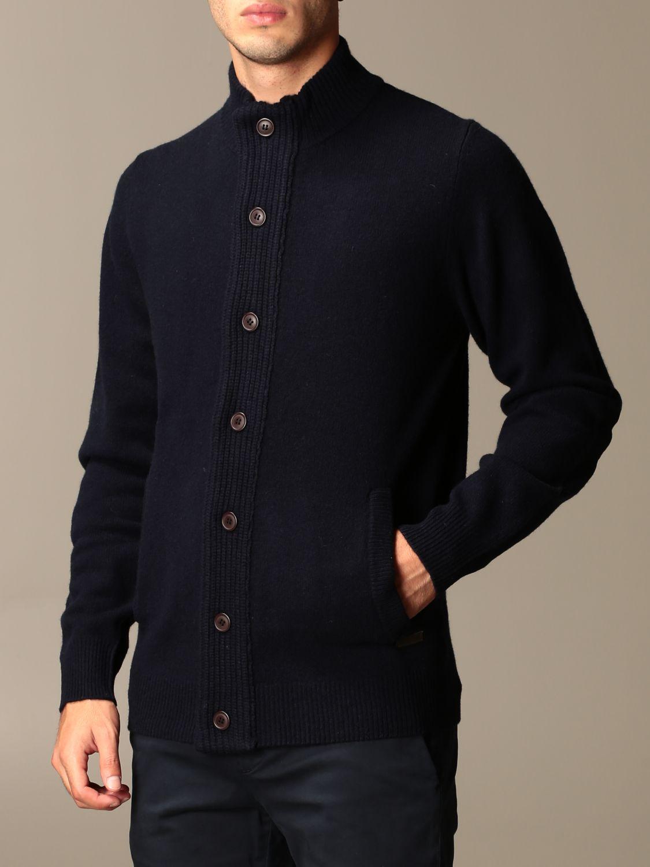 Cardigan Barbour: Cardigan Barbour in lana con bottoni blue navy 3
