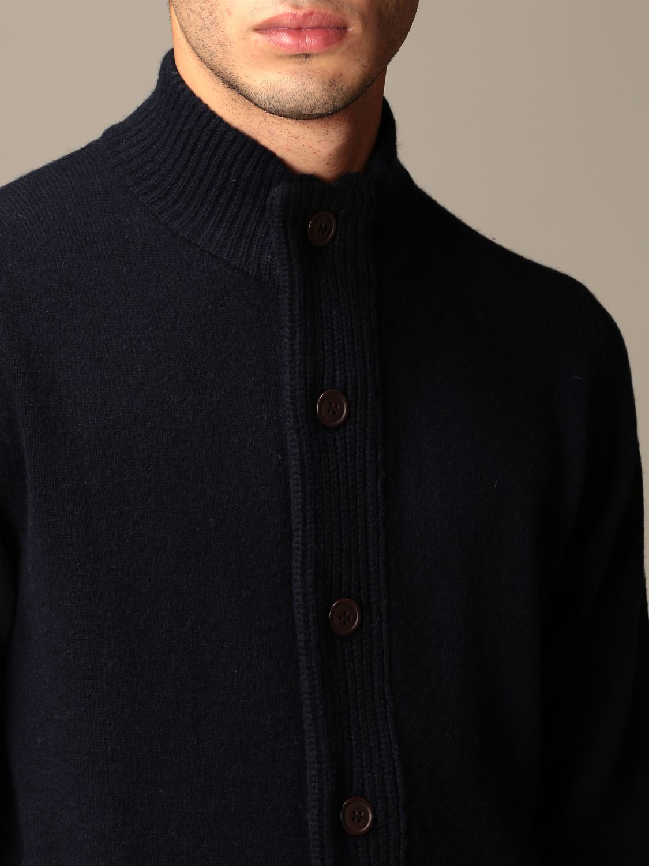 Cardigan Barbour: Cardigan Barbour in lana con bottoni blue navy 4