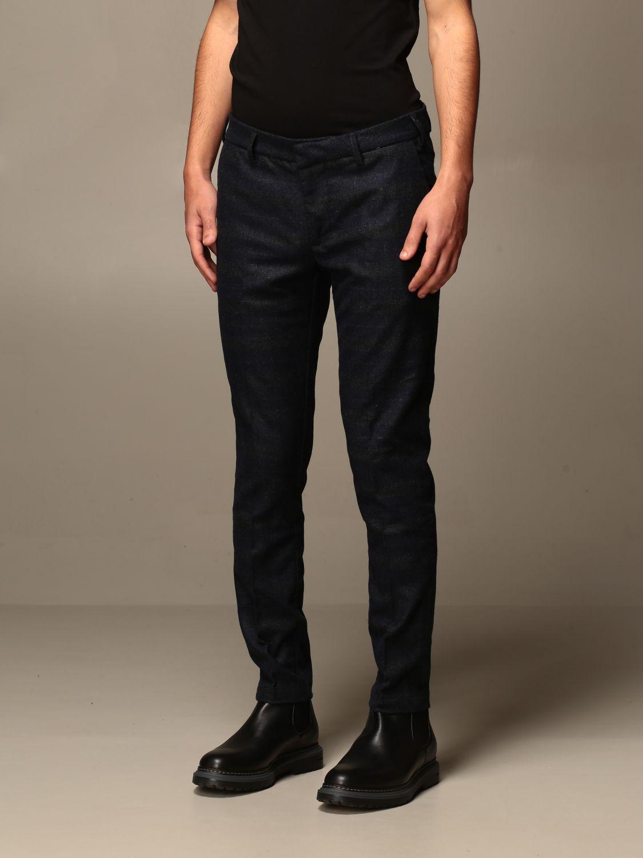 Pantalone Baronio: Pantalone baroni a fantasia Principe di Galles blue 3