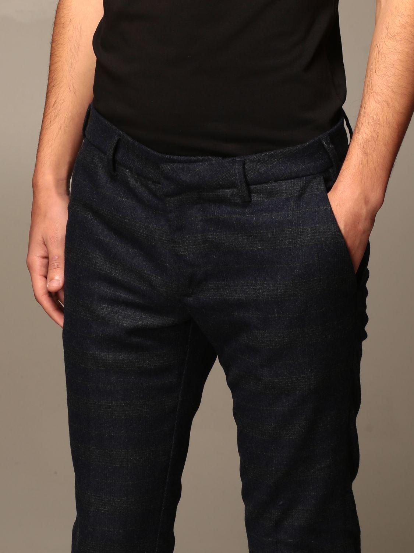 Pantalone Baronio: Pantalone baroni a fantasia Principe di Galles blue 4