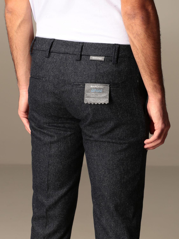 Trousers Baronio: Trousers men Baronio grey 3