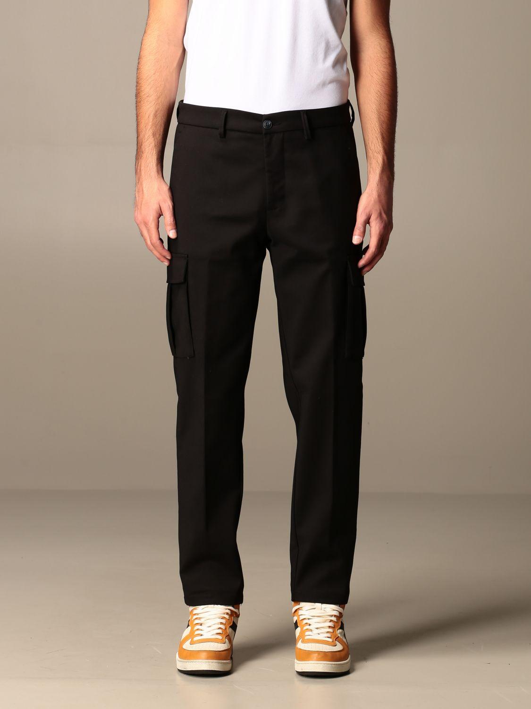 Pants Baronio: Baronio trousers with kargo pockets black 1