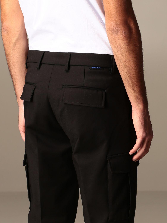 Pants Baronio: Baronio trousers with kargo pockets black 3