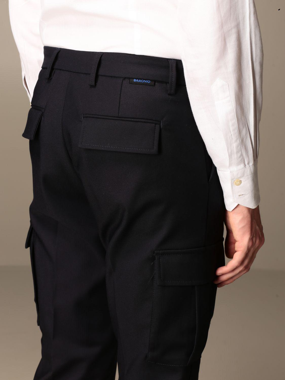 Trousers Baronio: Trousers men Baronio blue 3