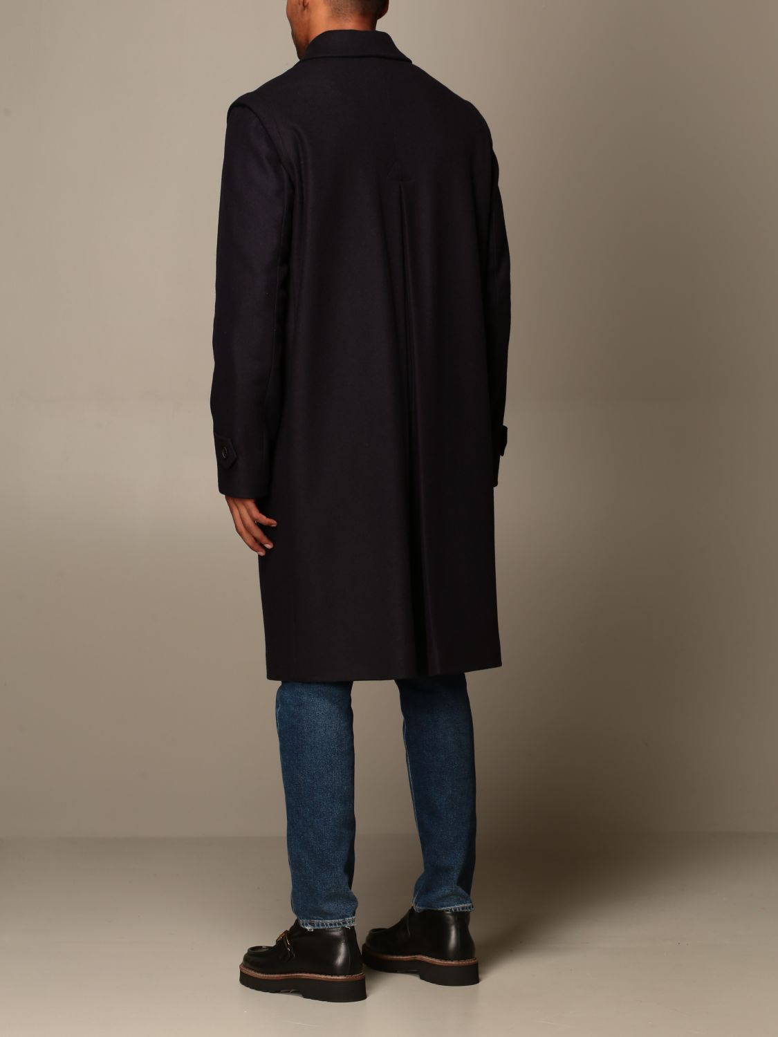 Coat Grifoni: Grifoni coat in woolen cloth and cashmere blue 3