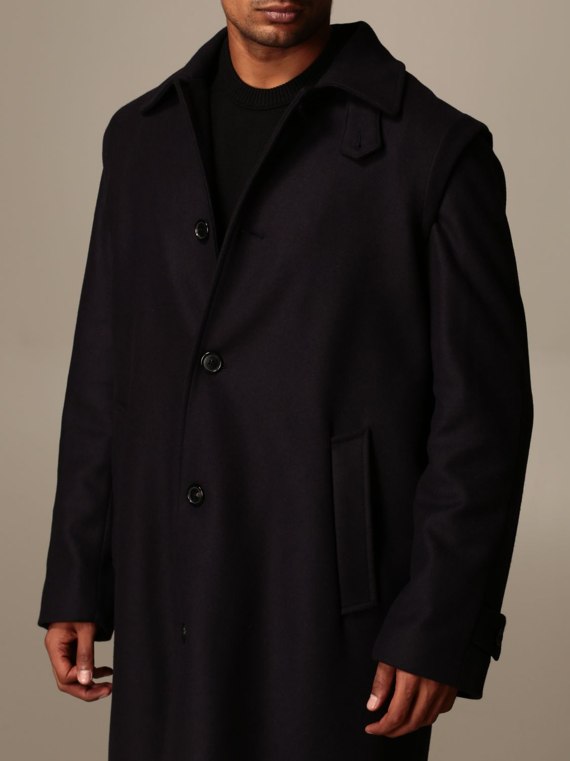 Coat Grifoni: Grifoni coat in woolen cloth and cashmere blue 4