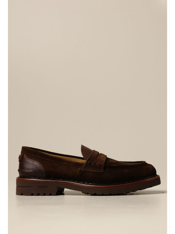 Loafers Brimarts: Brimarts slip on moccasin in suede dark 1
