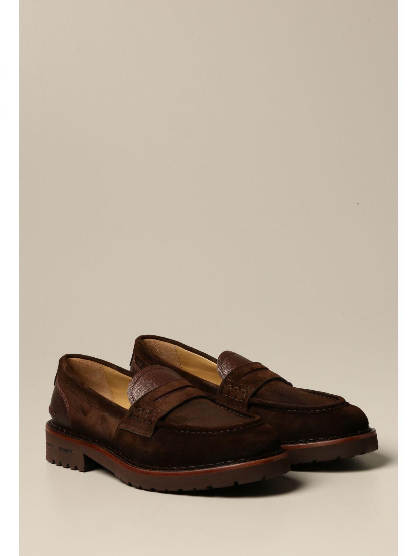 Loafers Brimarts: Brimarts slip on moccasin in suede dark 2