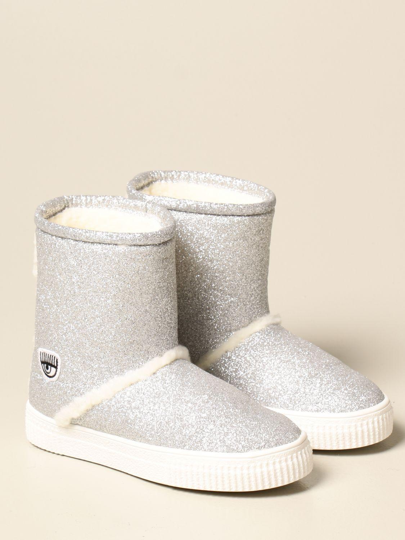 Zapatos Chiara Ferragni: Zapatos niños Chiara Ferragni plata 2