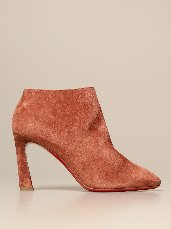 Bottines à talons Christian Louboutin: Chaussures femme Christian Louboutin marron 1