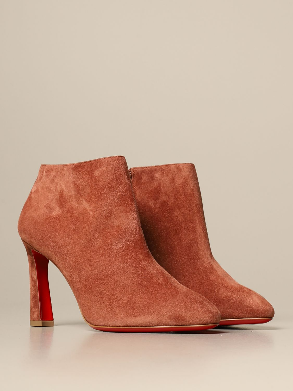 Bottines à talons Christian Louboutin: Chaussures femme Christian Louboutin marron 2