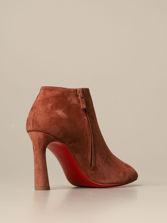 Bottines à talons Christian Louboutin: Chaussures femme Christian Louboutin marron 3