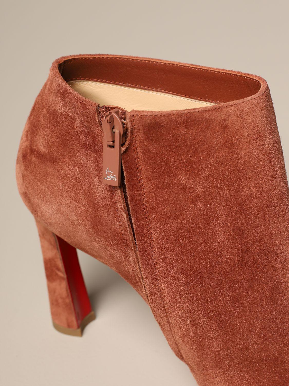 Bottines à talons Christian Louboutin: Chaussures femme Christian Louboutin marron 4