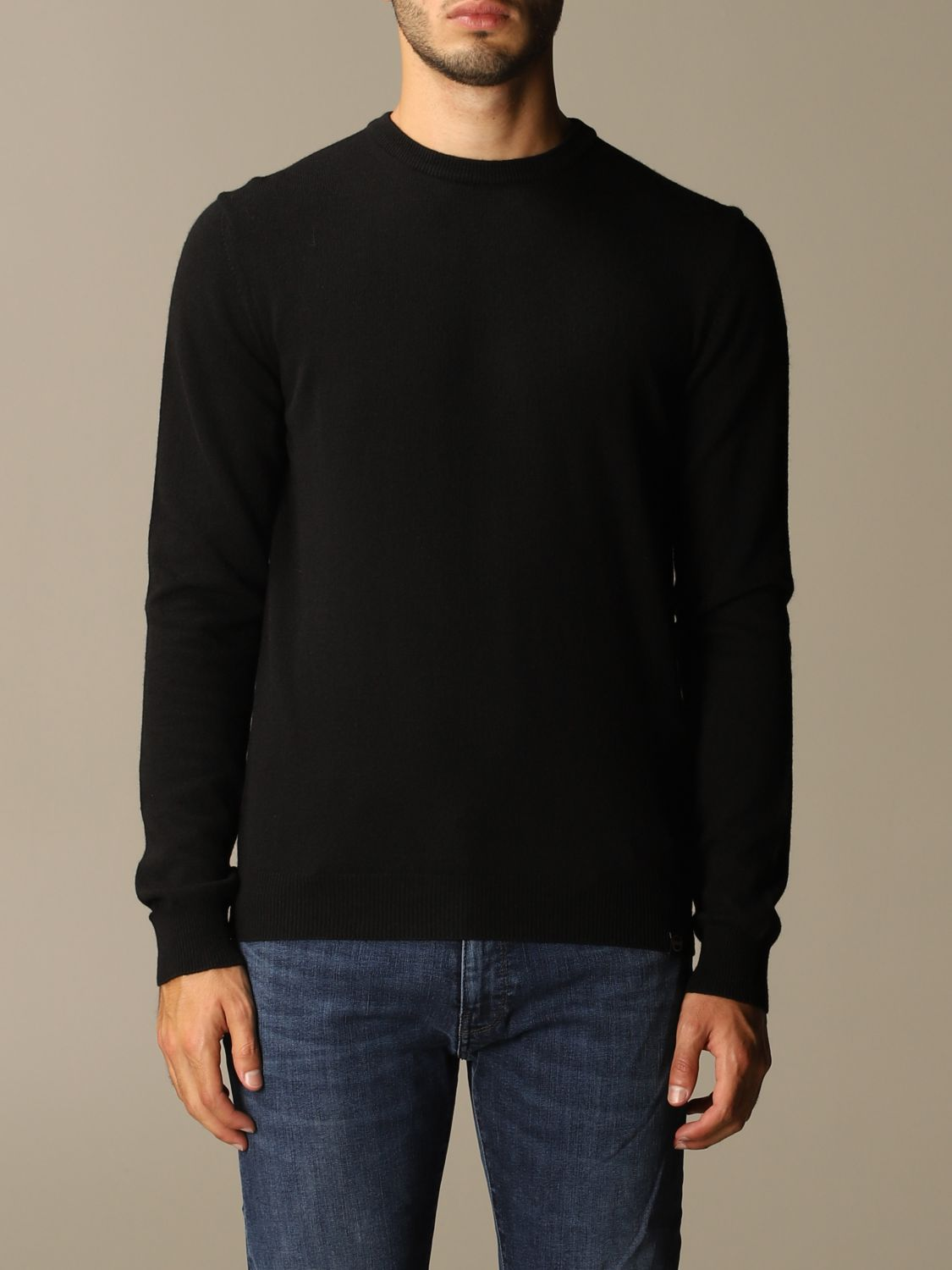 Sweater Colmar: Colmar crewneck sweater in wool and cashmere blend black 1