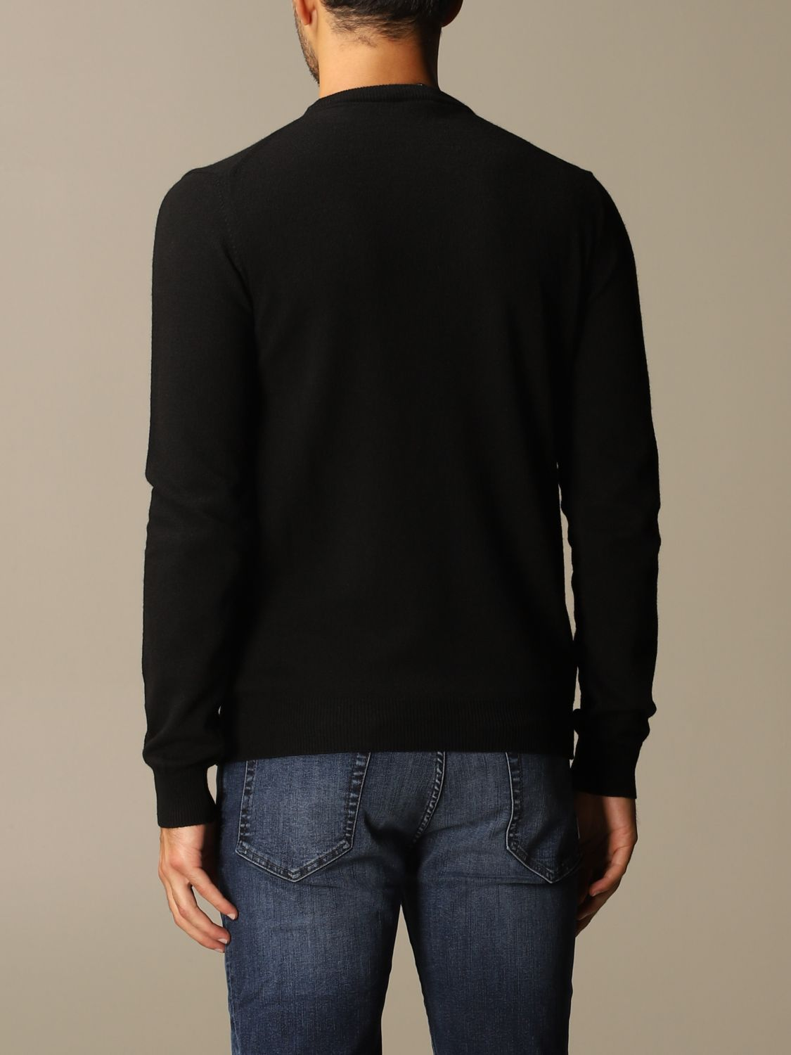 Sweater Colmar: Colmar crewneck sweater in wool and cashmere blend black 2