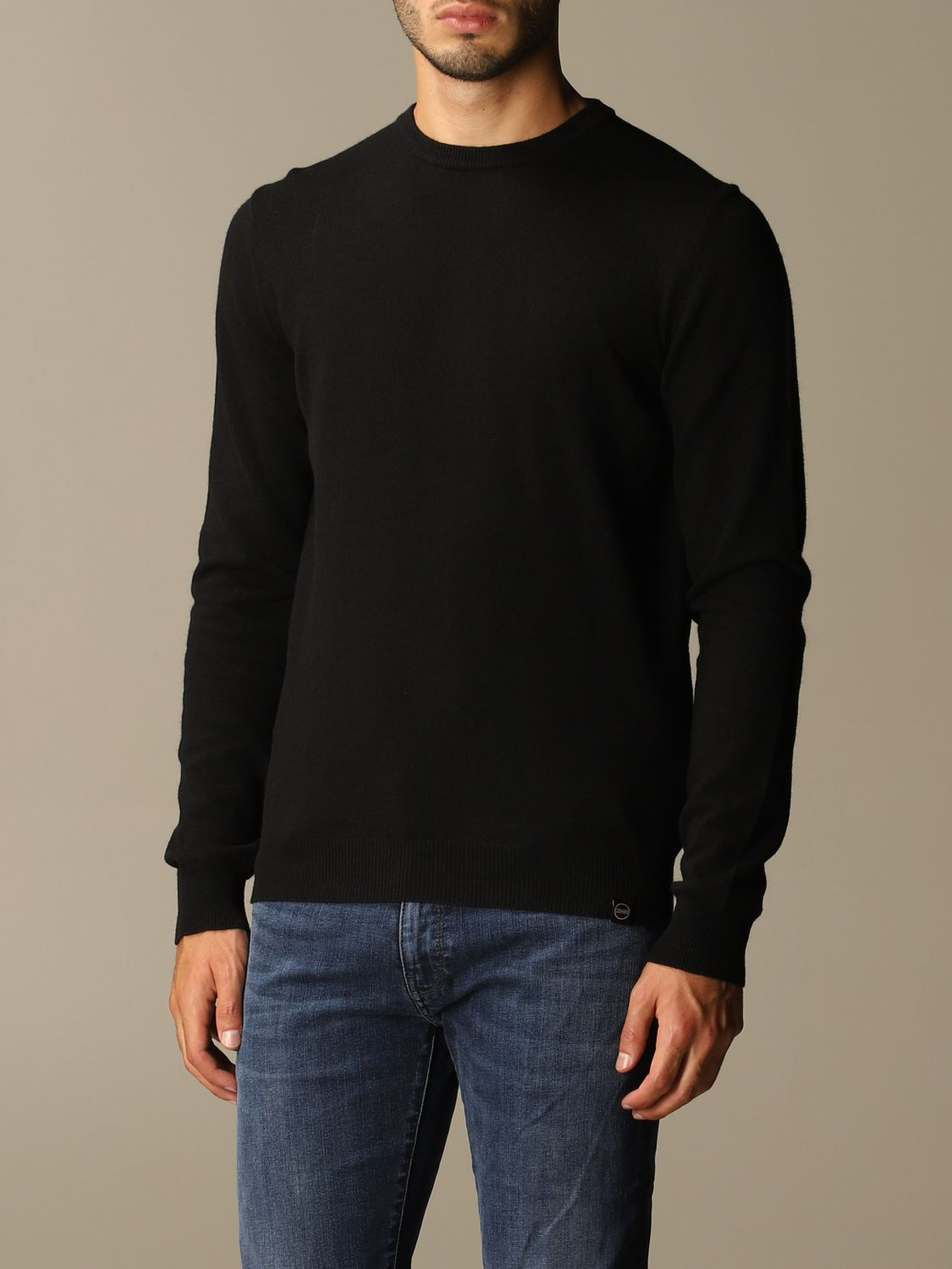 Sweater Colmar: Colmar crewneck sweater in wool and cashmere blend black 3