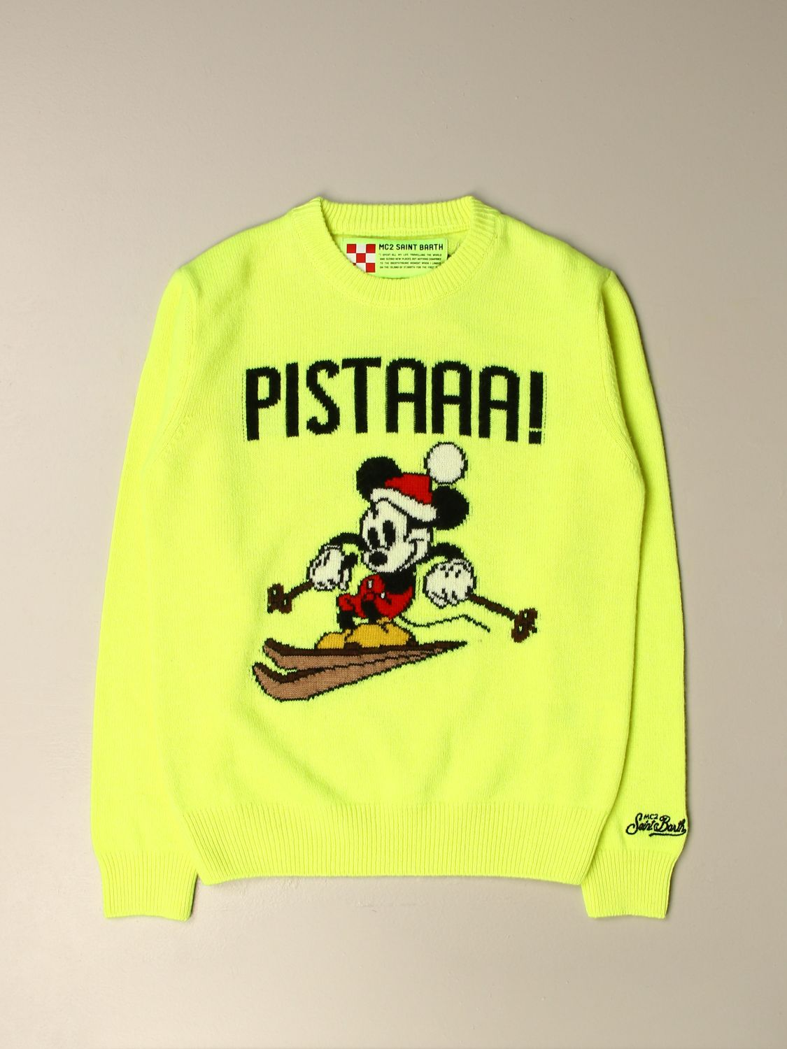Pull Mc2 Saint Barth: Pull enfant Mc2 Saint Barth jaune 1