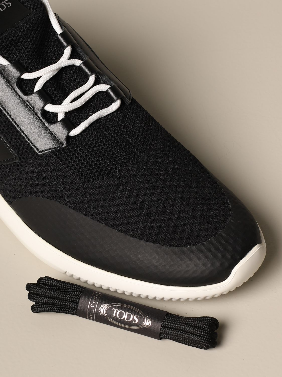 leather | Sneakers Tods Men Black