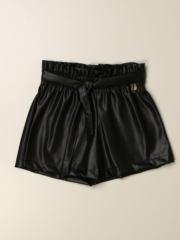 Short Miss Blumarine: Short kids Miss Blumarine black 1