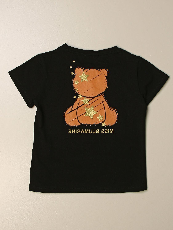 Camisetas Miss Blumarine: Camisetas niños Miss Blumarine negro 2