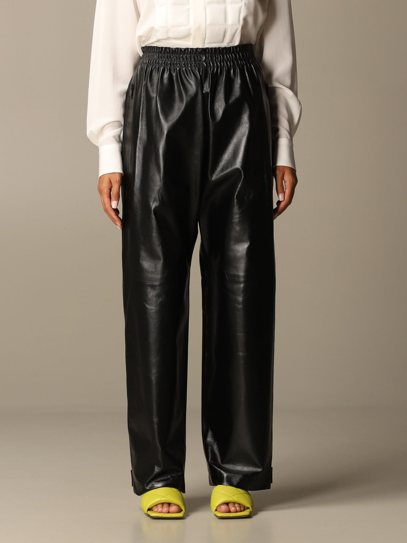 Pants Bottega Veneta: Bottega Veneta trousers in shiny leather black 1