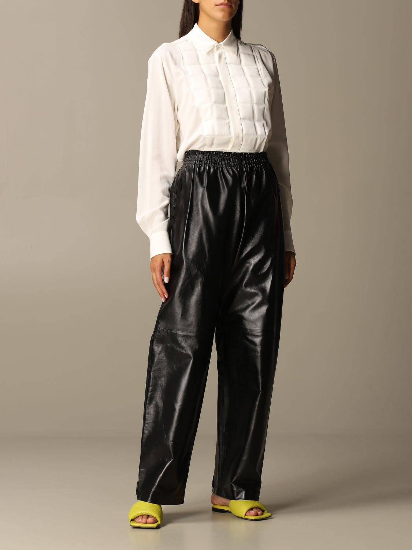 Pants Bottega Veneta: Bottega Veneta trousers in shiny leather black 2
