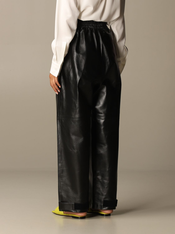 Pants Bottega Veneta: Bottega Veneta trousers in shiny leather black 3